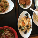 台北榕園 - キクラゲ炒め定食
