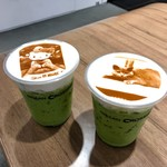 CROSSING CAFÉ - アイス抹茶ラテ