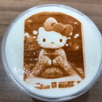 CROSSING CAFÉ - 満足なラテアート1