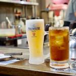 電光石火 - 生ビールと烏龍茶
