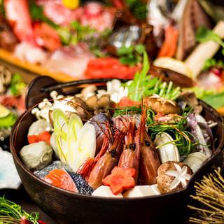 ◆海鮮赤辛鍋付宴会コース◆3h飲み放題付3499円~
