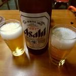 喜楽 - ドリンク写真:【2017.8.2(水)】瓶ビール(大・アサヒスーパードライ)700円