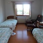 朱鞠内湖そばの花 - お世話になったお部屋です。最大3人まで寝泊りできます。