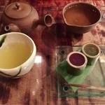 茶の葉 - 煎茶セット 756円  (季節のお菓子つき)