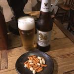 もりやま屋 - シンハービール 600円(おつまみ付き)