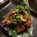 炉端dining ろい - 朝引きささみの葉ワサビ和え 380円