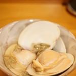 平和寿司 - 桑名の蛤と秋田の蓴菜