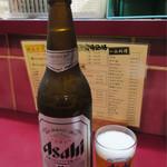 丸八やきとりチェーン店 - アサヒビール大瓶 700円