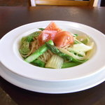 ウエストパーク・カフェ - 新メニュー:季節野菜のスパゲティ ペペロンチーノ