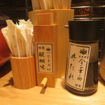 日本橋 天丼 金子半之助 - 山椒など