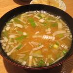 日本橋 天丼 金子半之助 - 味噌汁