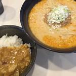 たんきち - 料理写真:坦坦麺セット(ミニカレー)