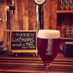 Beer Cafe Laugh'in - ベルギーのフルーツビール、リーフマンス♪