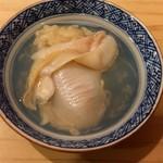 鮨 美菜月 - 蛤出汁茶漬け風