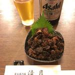 70959444 - 鰻山椒煮&瓶ビール