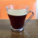 Trattoria & Pizza Banzo - 食後のドリンクはホットコーヒーで。(TanaCafeさんのコーヒーです)