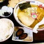 味処 新町 - しおラーメン700円+小ライス