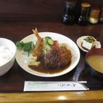 喰いもの屋おおき - メンチカツとエビフライ定食