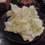 七輪焼肉 安安 - キャベツ