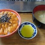 炉ばた ちどり - 沢庵とお味噌汁も美味しいんだよー