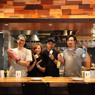 北海道出身の同級生シェフ達と元気いっぱいのスタッフがお出迎え