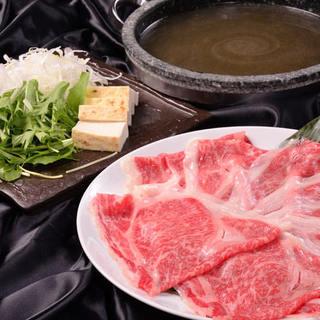 ◆当店オススメ&No,1人気食材♪村上牛のしゃぶしゃぶ◆
