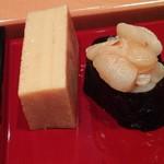 小笹寿し - 玉子焼き、小柱