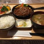 ハッピー食堂 - 洋風ハンバーグセット1382円