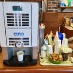LULU - 無料サービスのコーヒーマシン(ココアやカフェラテなどもあります)