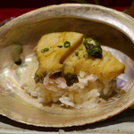70978880 - アワビ、スッポンスープ飯蒸し