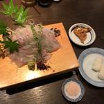 小川の魚 - 活岩魚刺し