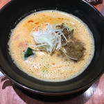 虎玄 一宮店 - 坦々麺   濃厚汁にストレート細麺