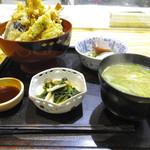 楽味 - 特製天丼(1.300円)