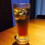 ハヌリ - とうもろこしひげ茶ハイ(380円)