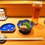 やまちょう - 1万円コース(付き出し & 生ビール)