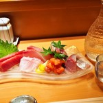 Yamachou - 1万円コース(お造り & 冷酒:筑後川 飛龍)