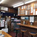 ふる里 - 店内の一角には寿司コーナー