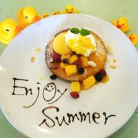 カフェ パンプルムゥス - 8月限定★マンゴーのパンケーキ