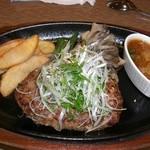 肉の万世 - ランチのおろしハンバーグ