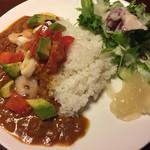 キッチンバスタブ - 魚介トマトアボガドカレー (エビイカタコ) 甘口