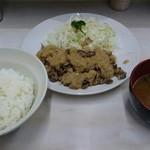 角常食堂 - 料理写真:牛バラステーキ定食 700円