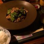 ごはん亭 家蔵 - 豚肉とナスの味噌炒め