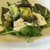 土山人 - 料理写真:無花果と水茄子と湯葉のサラダ バジルドレッシング
