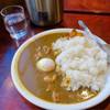 一刀斎 - 料理写真:「大盛チキンカレー」(700円)+「温泉たまご」(80円)
