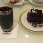 丸福珈琲店 - アイスコーヒー、ケーキ