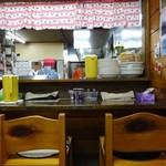おおもり - 厨房とカウンター