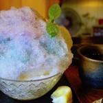 71019407 - 紫陽花かき氷 レモンかけた後