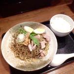 夢こばち - 冷やし黒胡麻担々麺大盛(¥950)&チキン南蛮・ライス(+¥390)のライスのみが先に出てきた。