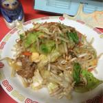 丸長食堂 - 肉野菜味噌炒め定食 580円