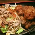 市川食堂 - 肉野菜炒め・とり唐セット
